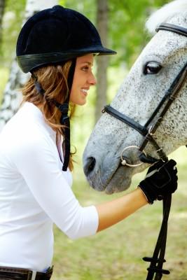 Happy horse rider